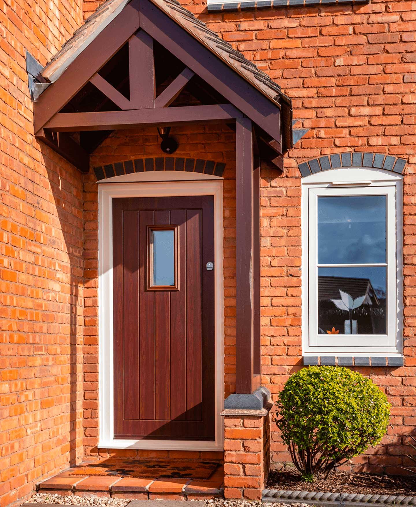 Composite front doors stoke